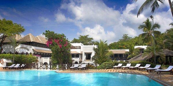 Africký ráj v Mombase. 5* beach resort, plná penze