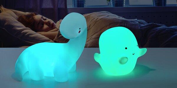Dětská LED lampička ve tvaru ducha nebo dinosaura