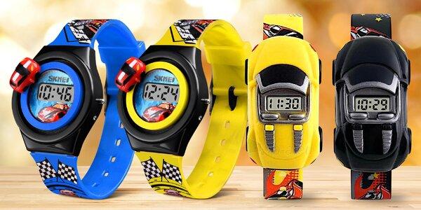 Dětské hodinky s auty: 2 varianty ve 4 barvách