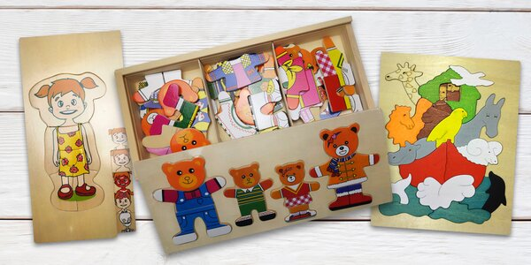 Dětské dřevěné vícevrstvé puzzle
