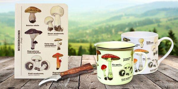 Pro houbaře: nožíky, plecháček i set s košíkem