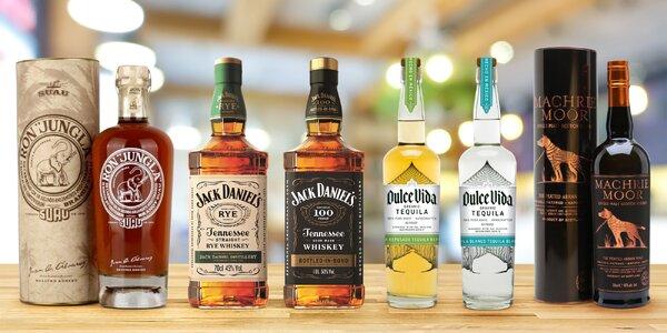 Láhev kvalitní tequily či whisky i voňavý rum