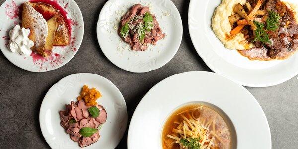 4chodové zimní menu v restauraci Garnet