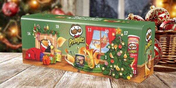 Adventní kalendář Pringles: víc než 1 kg snacků