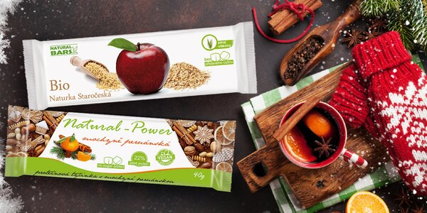 Křupavá vánoční raw granola a výživné tyčinky