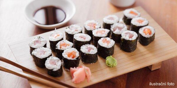40–112 ks maki sushi vč. veganské varianty