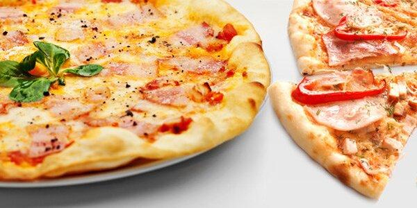 Dvě křupavé pizzy dle výběru doma nebo v pizzerii
