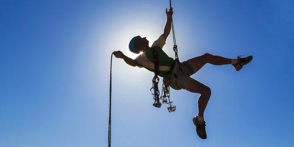 Extrémní slaňování z výšky od 36 do 80 metrů