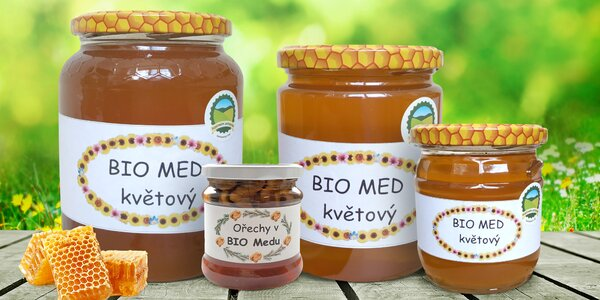 Raw bio květový med přímo od českého včelaře