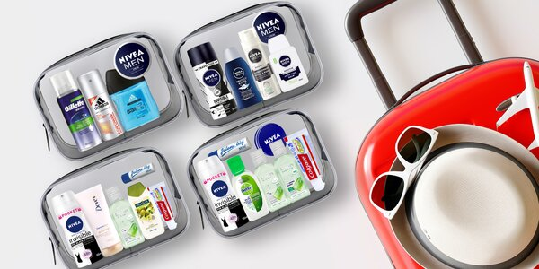Cestovní sady mini kosmetiky pro ženy i muže