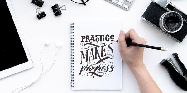 Online kurz letteringu pro začátečníky