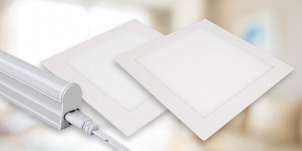 LED světla: čtvercové panely i kuchyňská svítidla