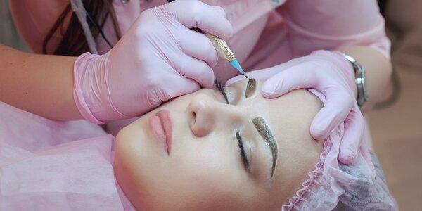 Permanentní make-up obočí metodou vláskování