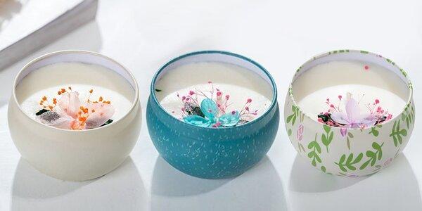Svíčky s aromaterapeutickým olejem