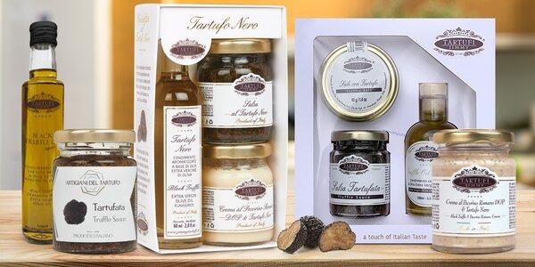 Speciality z pravých lanýžů: olivový olej a pasta