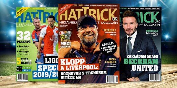 Roční předplatné fotbalového časopisu Hattrick