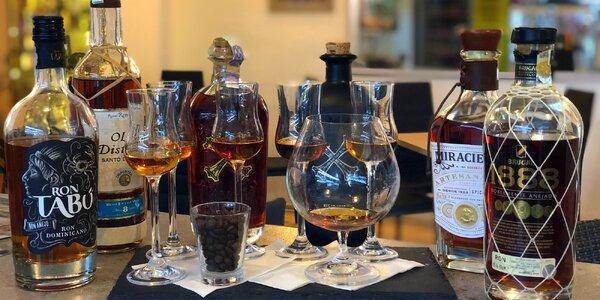 Degustace karibských rumů pro jednoho, dva i partu