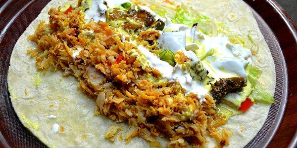 Kebab z českého masa v tortille či s hranolky