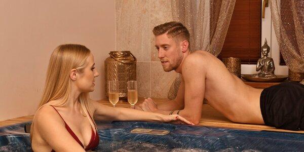 Privátní wellness s vířivkou a saunou pro 2 nebo 4