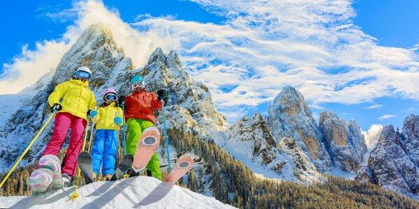 Na lyže do Dolomit: skipas, doprava a polopenze