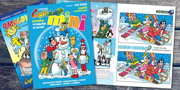 Novinka z dílny Myšpulína: časopis Čtyřlístek mini
