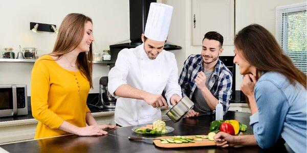 4hodinový kurz vaření dle výběru: ryby, steaky aj.