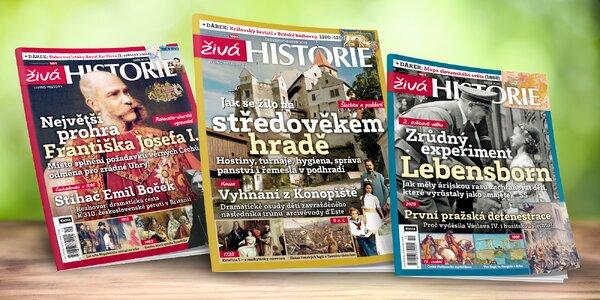 Kompletní ročník magazínu Živá historie 2019 s dárky