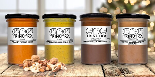 Ořechové, arašídové i slané krémy Trinutka