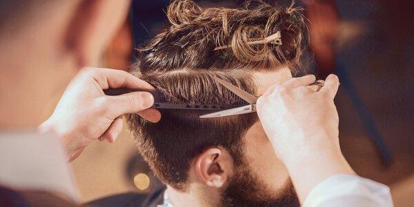 Pánský střih i s úpravou vousů a obočí