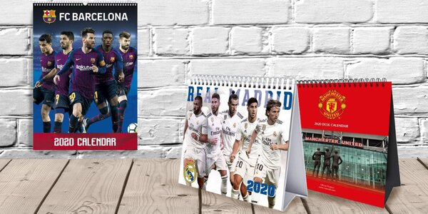 Kalendáře 2020 s fotbalovými kluby a hráči