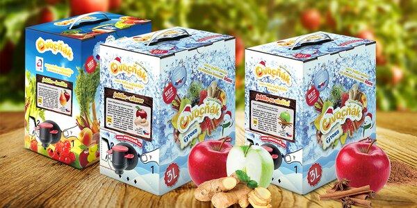 3 litry 100% jablečného moštu Ovocňák s příchutí