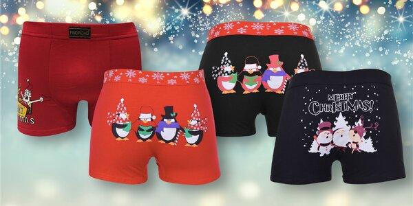 Pánské bavlněné boxerky s vánočními motivy