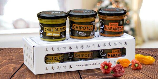 Mexická edice chilli omáček české výroby