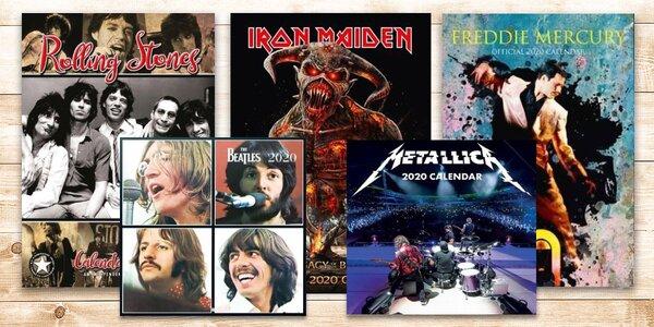 Nástěnné kalendáře 2020 s rockovými kapelami