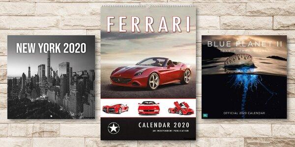 Kalendáře 2020: automobily, sport i příroda