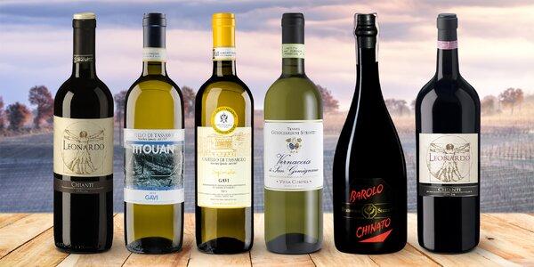 Dárkově balená italská vína: Chianti, Barolo aj.