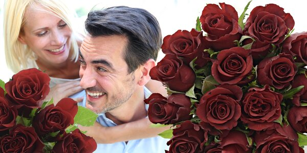 Kytice rudých růží Valentino a rozvoz po ČR