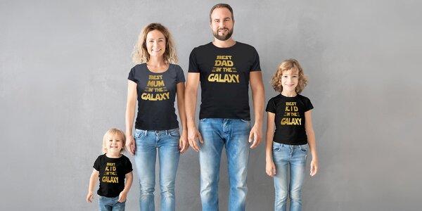 Parádní bavlněná trička pro nejlepší členy rodiny