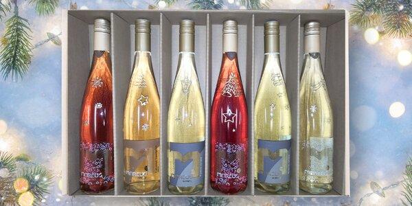 Set 6 moravských vín: perlivá i pozdní sběr