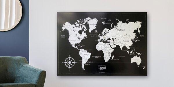 Pro nadšené cestovatele: mapa světa, A1 nebo A2