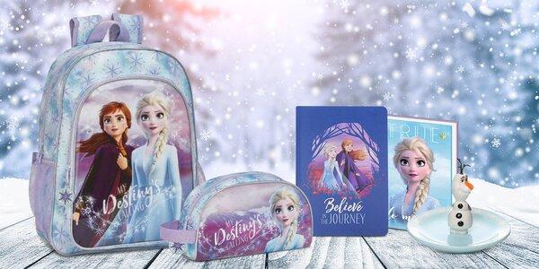 Zápisníky, penály i hrnky s motivy Frozen II
