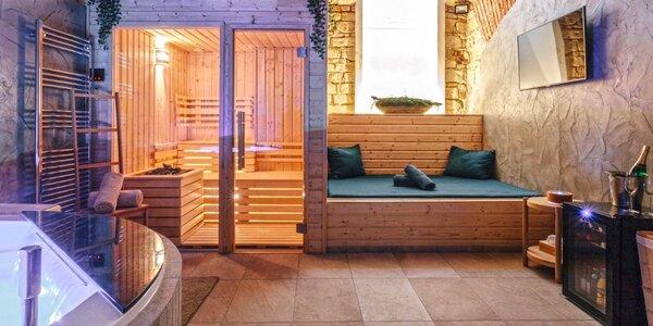 Privátní wellness v novém saunovém centru pro dva
