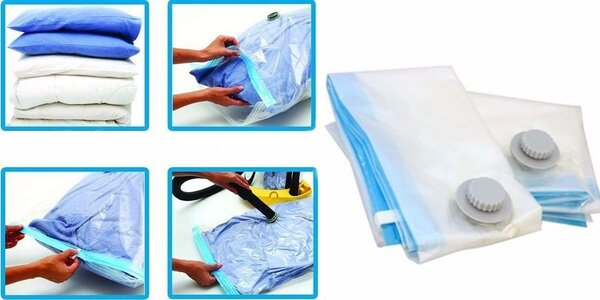 Praktické vakuové pytle k uskladnění oblečení