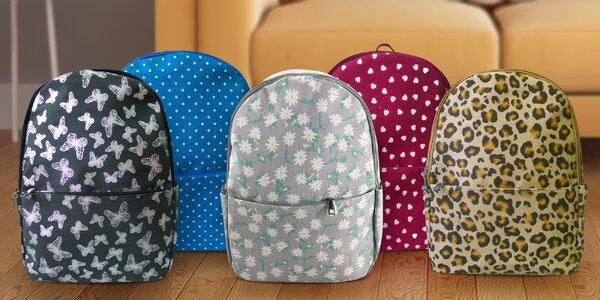 Dámské a holčičí barevné batohy s potiskem