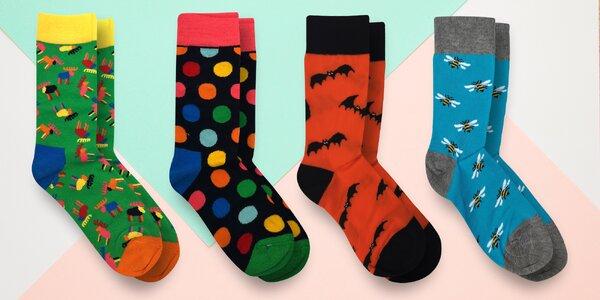 Dámské i pánské ponožky s hravými motivy