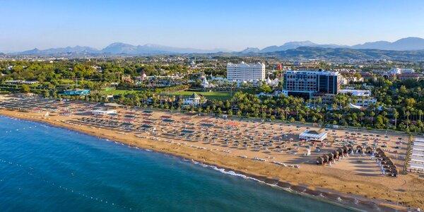 Turecká riviéra. 4* hotel, all inclusive i aquapark