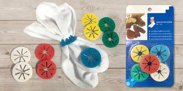 30 držáků ponožek pro snadné vyprání a uspořádání