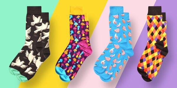 Ulítlé obrázkové ponožky Suxo: velikost 43-46