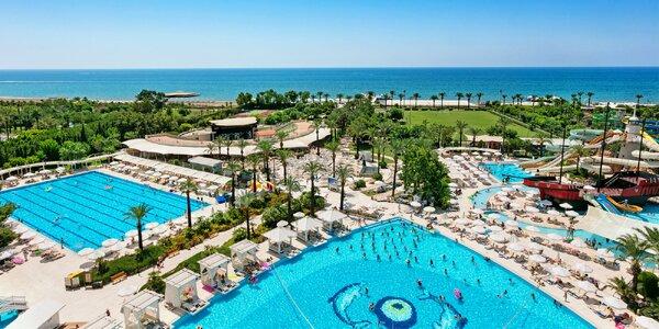 Antalya s all inclusive: 5* hotel s bazény a tobogány