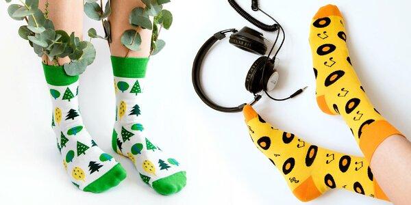 Unisex ponožky s veselými vzory